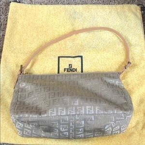 Fendi zucca pattern small shoulder bag Authentic